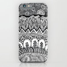 Black and White Doodle iPhone 6s Slim Case