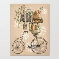 bicycle Canvas Prints featuring Pleasant Balance by florever
