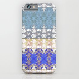 Sweet Lovely Intricate Boho Blues Lace Detail iPhone Case