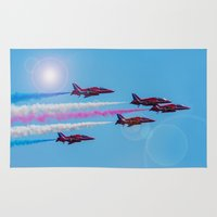 airplanes Area & Throw Rugs featuring ARROWS IN FLIGHT by Catspaws