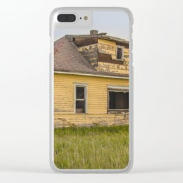 The Yellow House, Arena, North Dakota 4 Clear iPhone Case