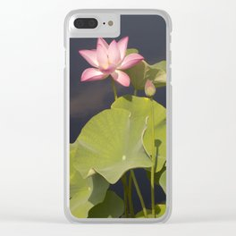 Pink Lotus by Teresa Thompson Clear iPhone Case