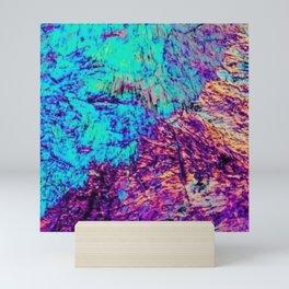 Abstract Rainbow Art - Iridescent Crystal Angles - Blue / Purple / Red Mini Art Print