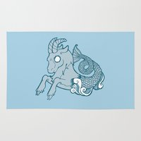 capricorn Area & Throw Rugs featuring Capricorn by rebecca miller