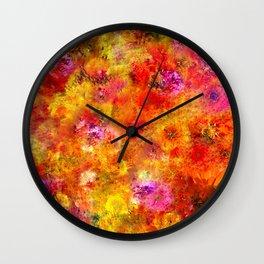 Zinnia Landscape 1 Wall Clock