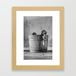 Beyond the pail Framed Art Print