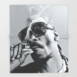 smoking hype Throw Blanket