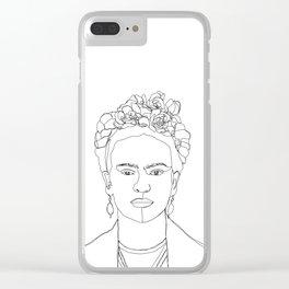 Frida Kahlo portrait illustration Clear iPhone Case
