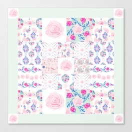 A Shabby Chic Patchwork Canvas Print