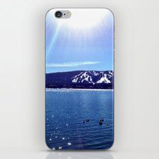 Sun on the lake. iPhone & iPod Skin