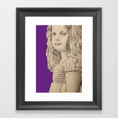 Gothic girl Framed Art Print