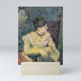 Paul Gauguin - Madame Mette Gauguin in Evening Dress (1884) Mini Art Print