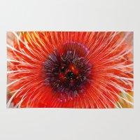 poppy Area & Throw Rugs featuring Poppy by Klara Acel