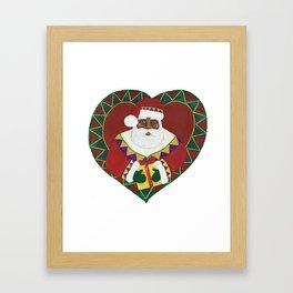African American Santa Claus Framed Art Print