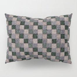 Rustic Gray Green Beige Black Patchwork Pillow Sham