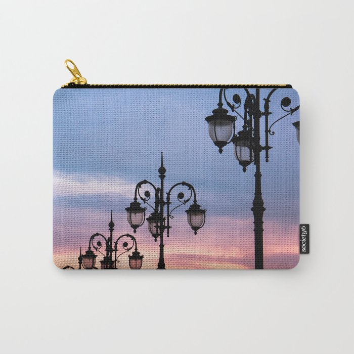 city lights in the evening sky Carry-All Pouch
