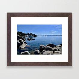 Sand Harbor, Lake Tahoe Framed Art Print