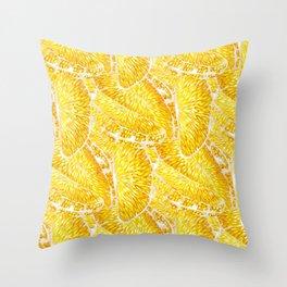 Extremly juicy orange slices Throw Pillow