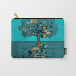 Digital Tree Carry-All Pouch