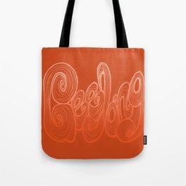 Geelong Typography - Orange Tote Bag