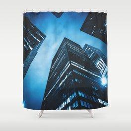 new york city building Shower Curtain