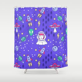 Space Love Shower Curtain