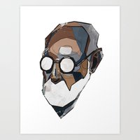freud Art Prints featuring Freud by PAFF