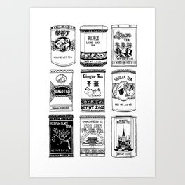 chinese teabox collection Art Print
