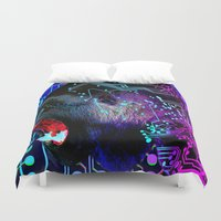tron Duvet Covers featuring angry gorilla Program v1 by seb mcnulty