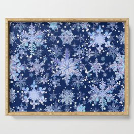 Snowflakes #3 Serving Tray