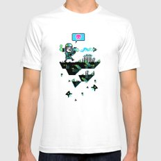 Major Jolt SMALL Mens Fitted Tee White
