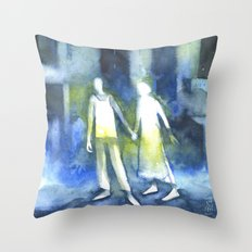 Lost souls at moonlight Throw Pillow