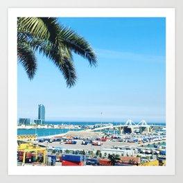 Port de Barcelona Art Print