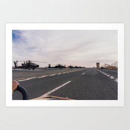 North of the Flightline  Art Print