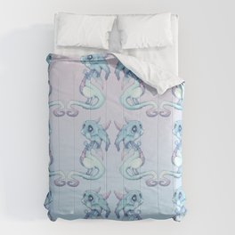 Blue Baby Dragon Comforters