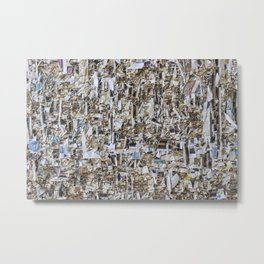 Texture of paper shredded wall Metal Print