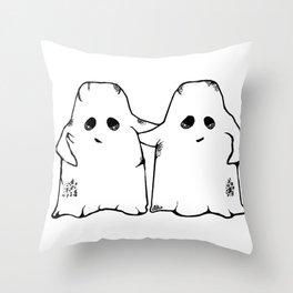 Ghost Friend Throw Pillow