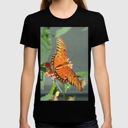 Gulf Fritillary on Lantana T-shirt