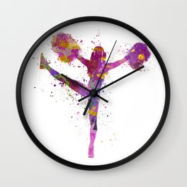 young woman cheerleader 04 Wall Clock