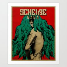 Scheiße Part 3: Protect Yourself From The Scheiße Art Print