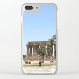 Temple of Luxor, no. 18 Clear iPhone Case