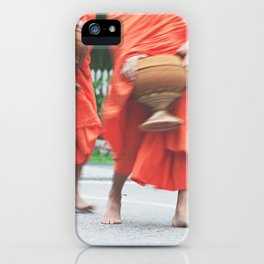 monks collecting alms iPhone Case