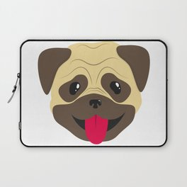 Smiling pug face Laptop Sleeve