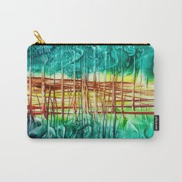 Two choices/ Jump over the Fence, Encaustic Carry-All Pouch