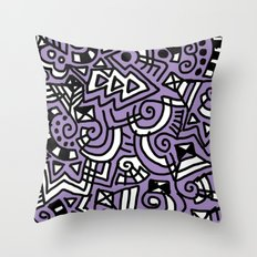 The Purple Doodle Throw Pillow