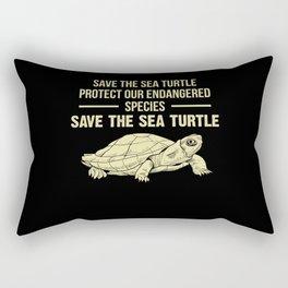 Sea Turtle Turtle Rectangular Pillow
