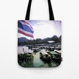 Long-Tail Harbor Tote Bag