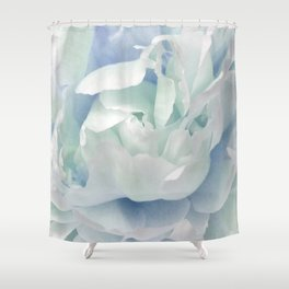 Peony in Blue White Shower Curtain
