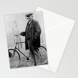John D. Rockefeller with Bicycle - 1913 Stationery Cards