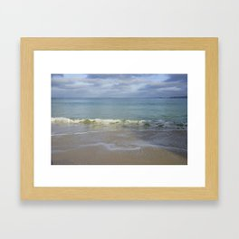 Turquoise Winter Waves and Sky Framed Art Print
